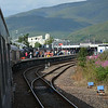 Arriving into Fort William, 45407 awaits to work to Mallaig on the Jacobite. 050814