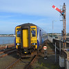 156435 arrives into Stranraer with the 1710 from Kilmarnock. 090614