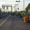 180102 arrives at Didcot Parkway with the 0517 Paddington / Oxford. 070514