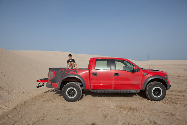Ford Raptor desert kids on bed