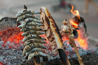 Sardines & Calamare on fire