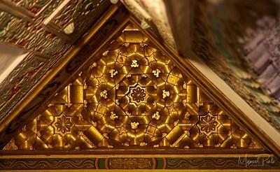 Gold ceiling corner