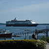 The Veendam anchored off Bar Harbor