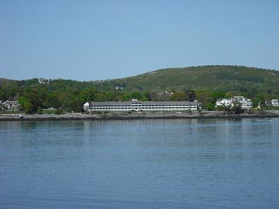 Looking ashore at Bar Harbor, ME