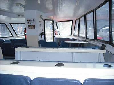 View inside the tender