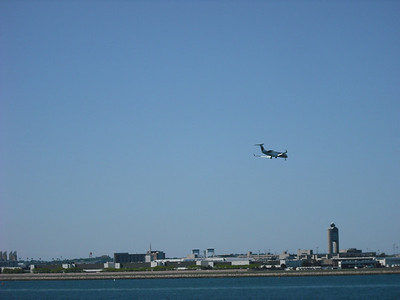 Another plane landing--busy airport
