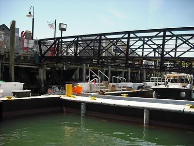 Walkway from tender to Bar Harbor dock