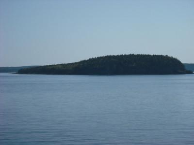 An island near Bar Harbor