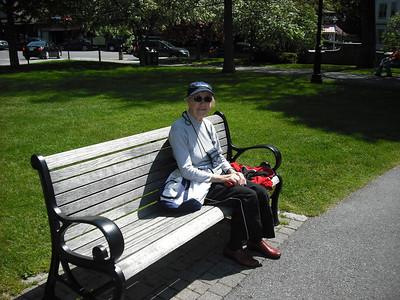 Enjoying a rest in Bar Harbor