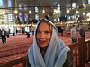 Interior of the Blue Mosque, head covering mandatory, available at the entrance