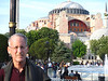 Neal in front of Aya Sofya, Istanbul
