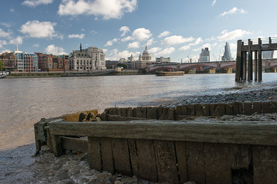 20140831. View along River Thames from Southbank, London.