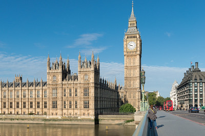 20140831. View from Westminster Bridge of Palace of Westminster and Big Ben.