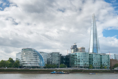 20140831. View of The Shard (tallest building in the United Kingdom), London.  On the left is the City Hall building.