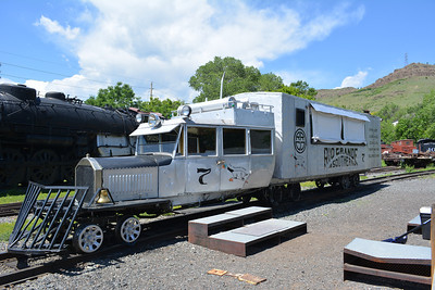 A Galloping Goose, built on a truck body and cheaper to operate then a full size train on small lines.  Seven were built, the museum has three.