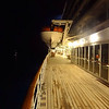 Early morning on deck approaching Mauritius