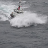 The pilot boat in Durban is having a fun ride!