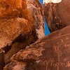 Petroglyphs on Atlatl Rock.