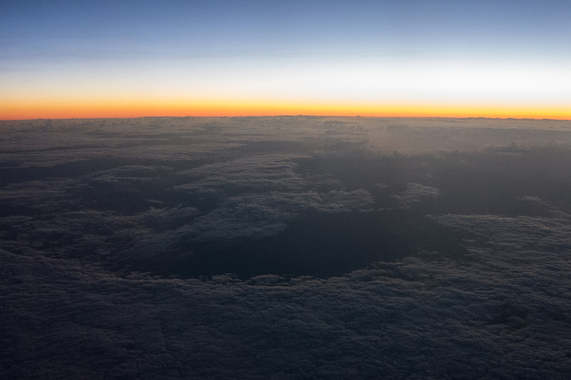 Our first sunrise in the Southern Hemisphere.