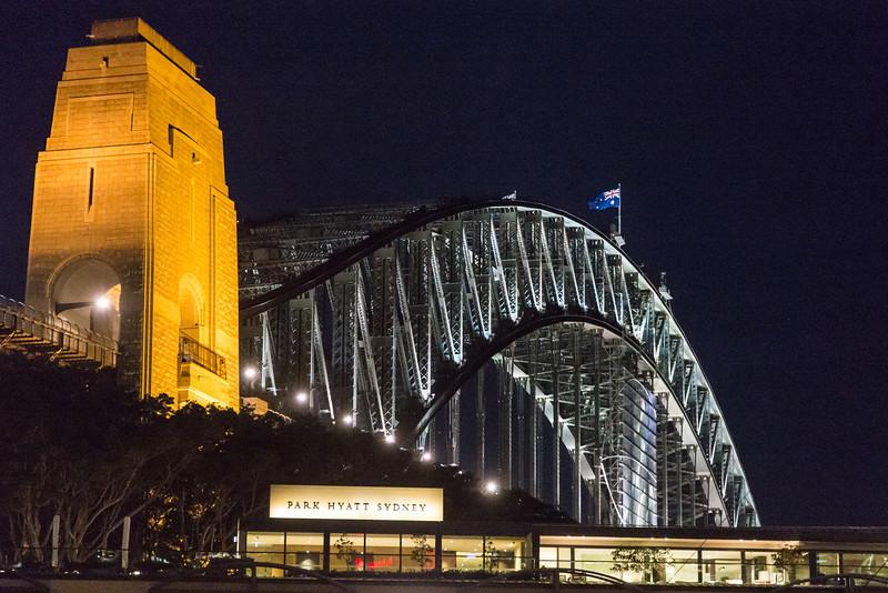 Sydney Harbor Bridge with Park Hyatt in front