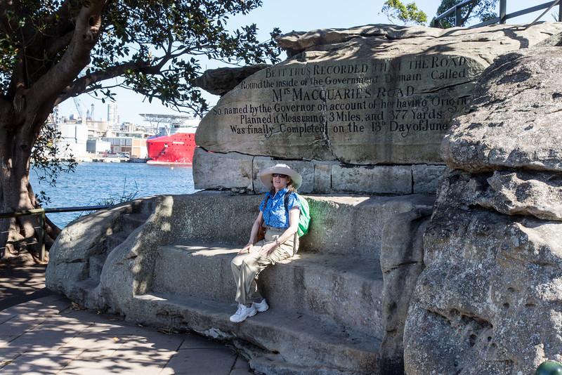 Mrs. Macquarie's Chair, overlooking Sydney Harbor