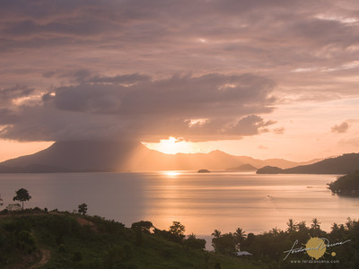 Backpack Photography El Nido Photo Tour Roadside stop view of Anato Peak Sunset
