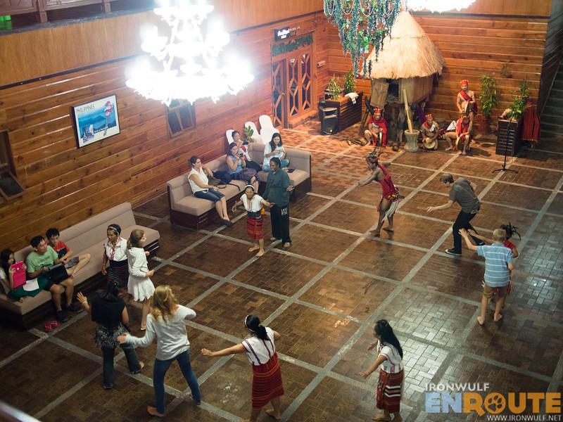 Spacious lobby as venue for cultural shows
