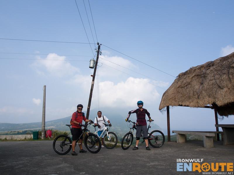 With my biking buddies Raffy, tour guide Rene and Armand