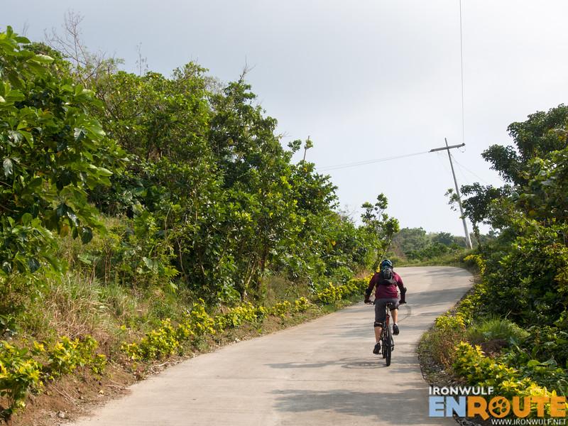 The steep ascend to Tukon Hills