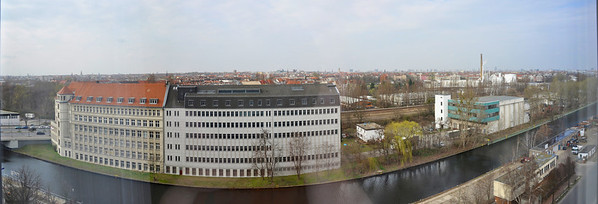 Berlin panorama from Estrel Hotel