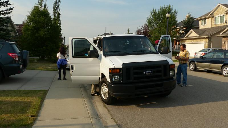The rented 15 seater van