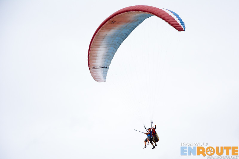 Marky of NomadicExperiences on his tandem flight