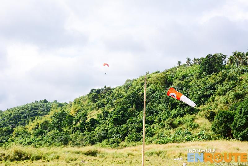 Launching from the ridge