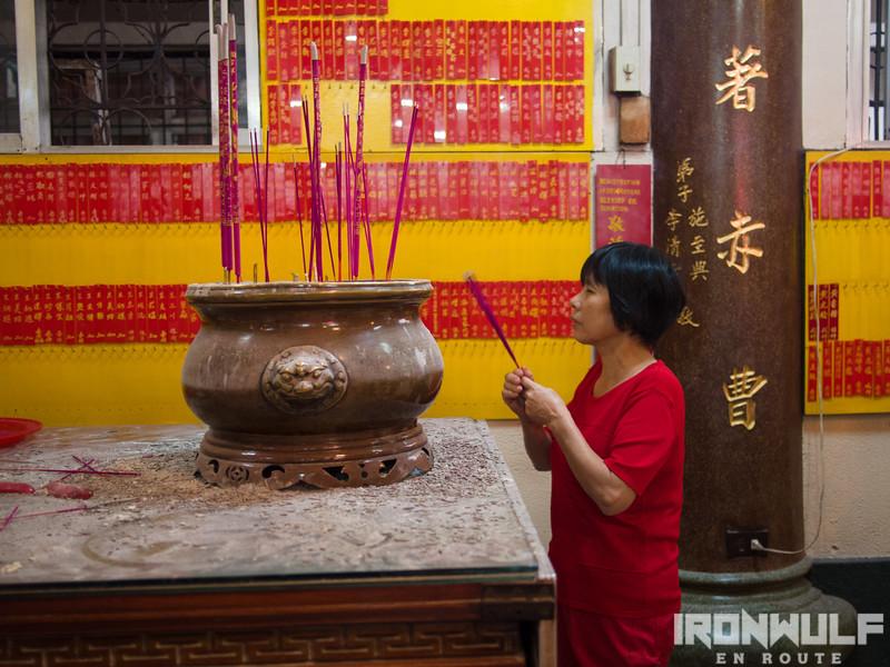 Prayers inside the temple