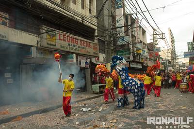 Binondo China Town Chinese New Year Dragon Dance