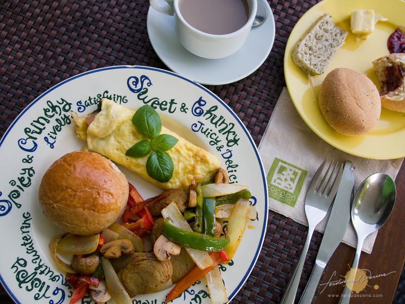 The hungarian sausage ala carte breakfast