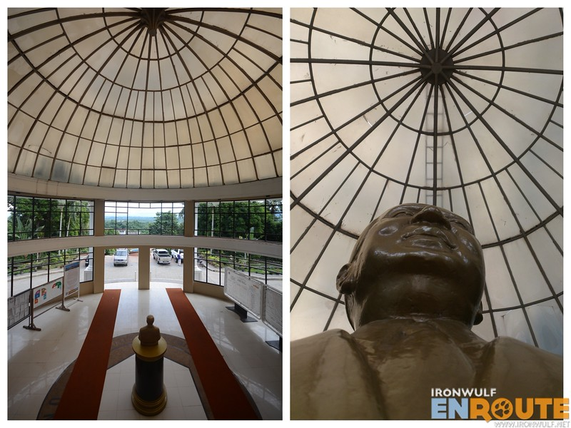 A higher vantage point and Former president Elpidio Quirino's bust