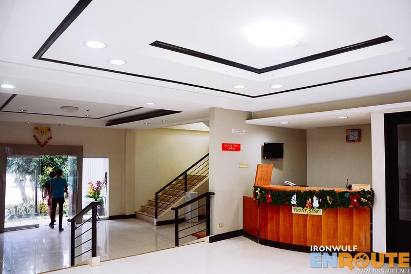 Simple hotel lobby