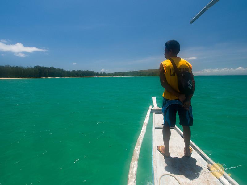 Passing through Caringo Island
