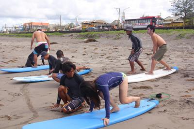 Surfing in Bagasbas Beach