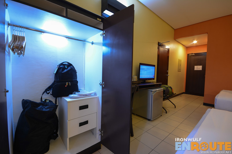 Lockers, fridge and Cable TV