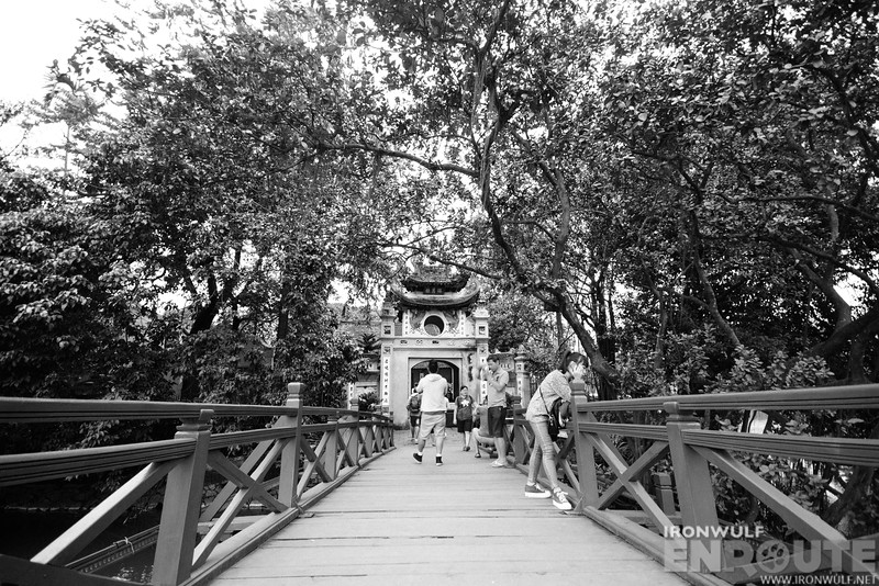 On the Huc bridge at Hoam Kiem Lake