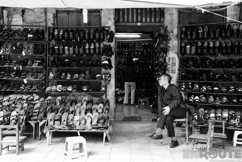 A shoe shop at the Old Quarter