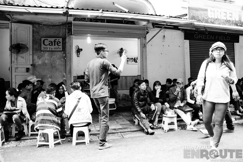 Streetside eats in Hanoi