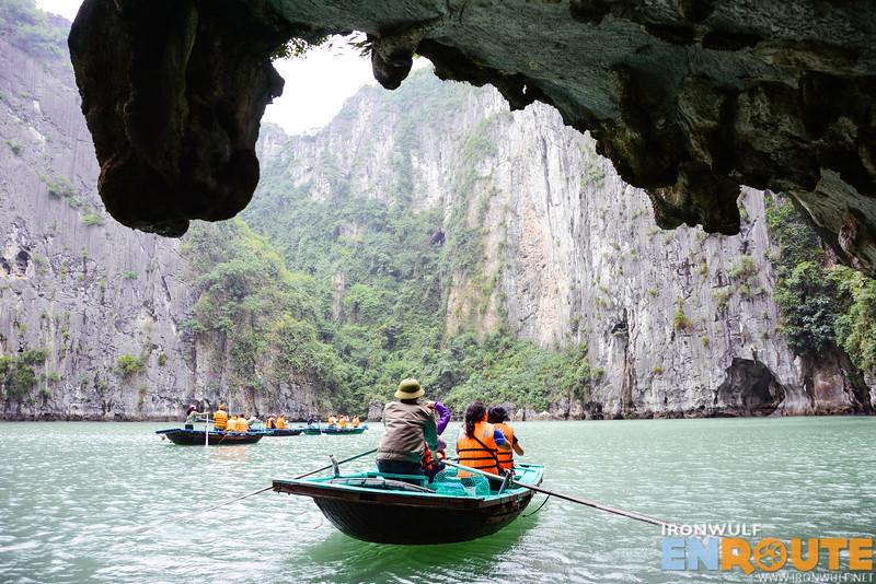 Exploring a couple of lagoons at Ha Long Bay