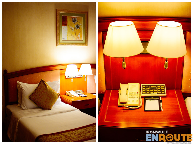 Comfy beds and handy bedside control panel for lights, temperature and music