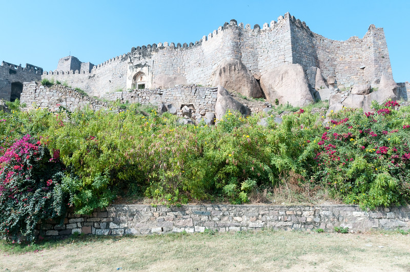 Golconda Fort, built into the top of a hill - Hyderabad.