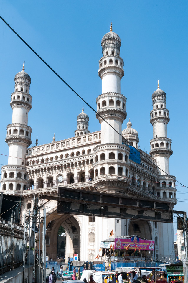 Charminar market area, Hyderabad.