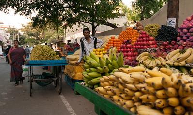 Fruit vendors, 8th cross, Sampige Road, Malleswaram, Bangalore.