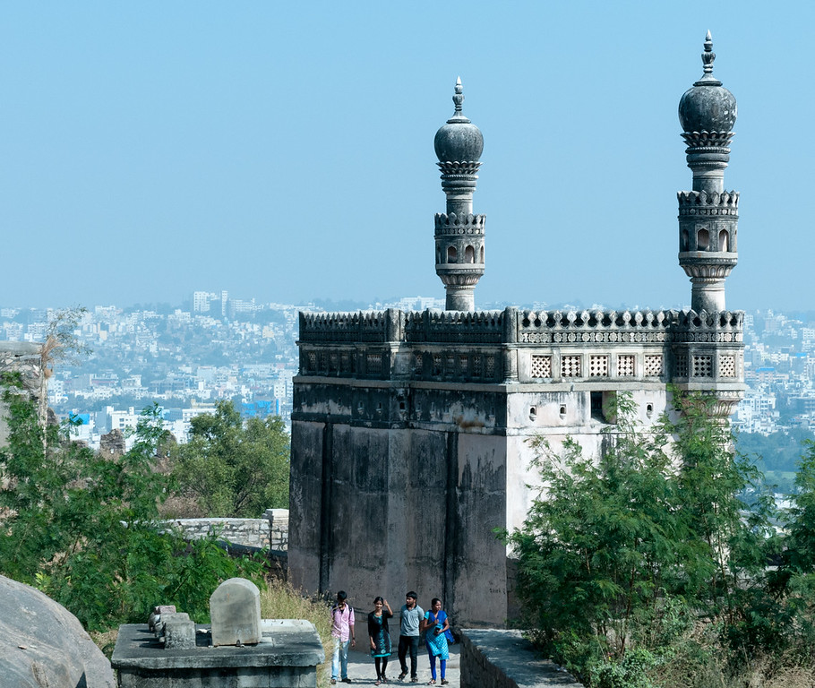 Mosque near the top of Golconda Fort - Hyderabad.